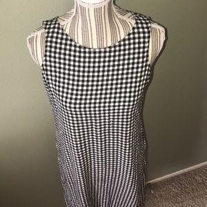 Jones New York Dresses - Jones New York Maxi Dress black & white gingham